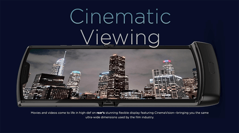 Cinematic Viewing from the foldable display