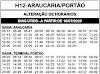Horário de ônibus ARAUCÁRIA / PORTÃO 2020
