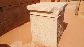 Heroglyphs on the altar table in Amun, Sudan
