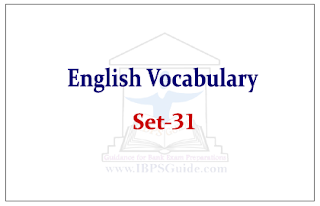 English Vocabulary Set-31(Synonyms-Antonyms-Usage) Ref- The Hindu