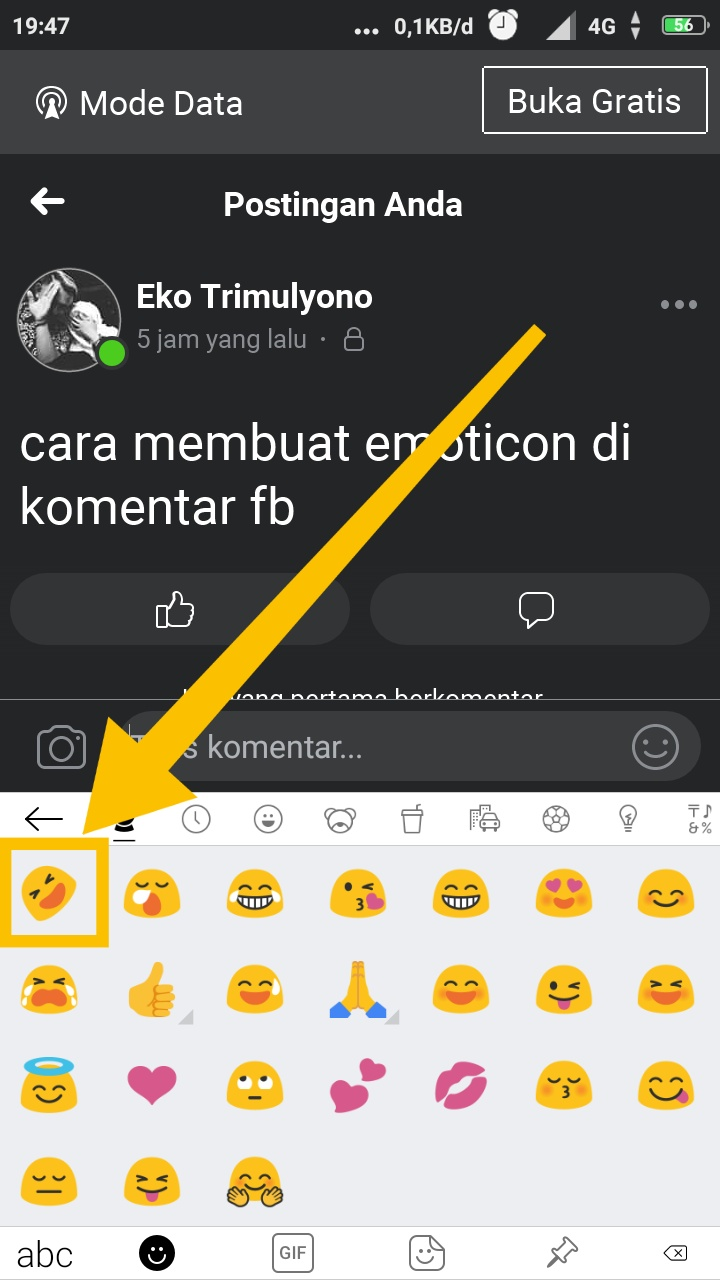 cara menambahkan emoticon di facebook