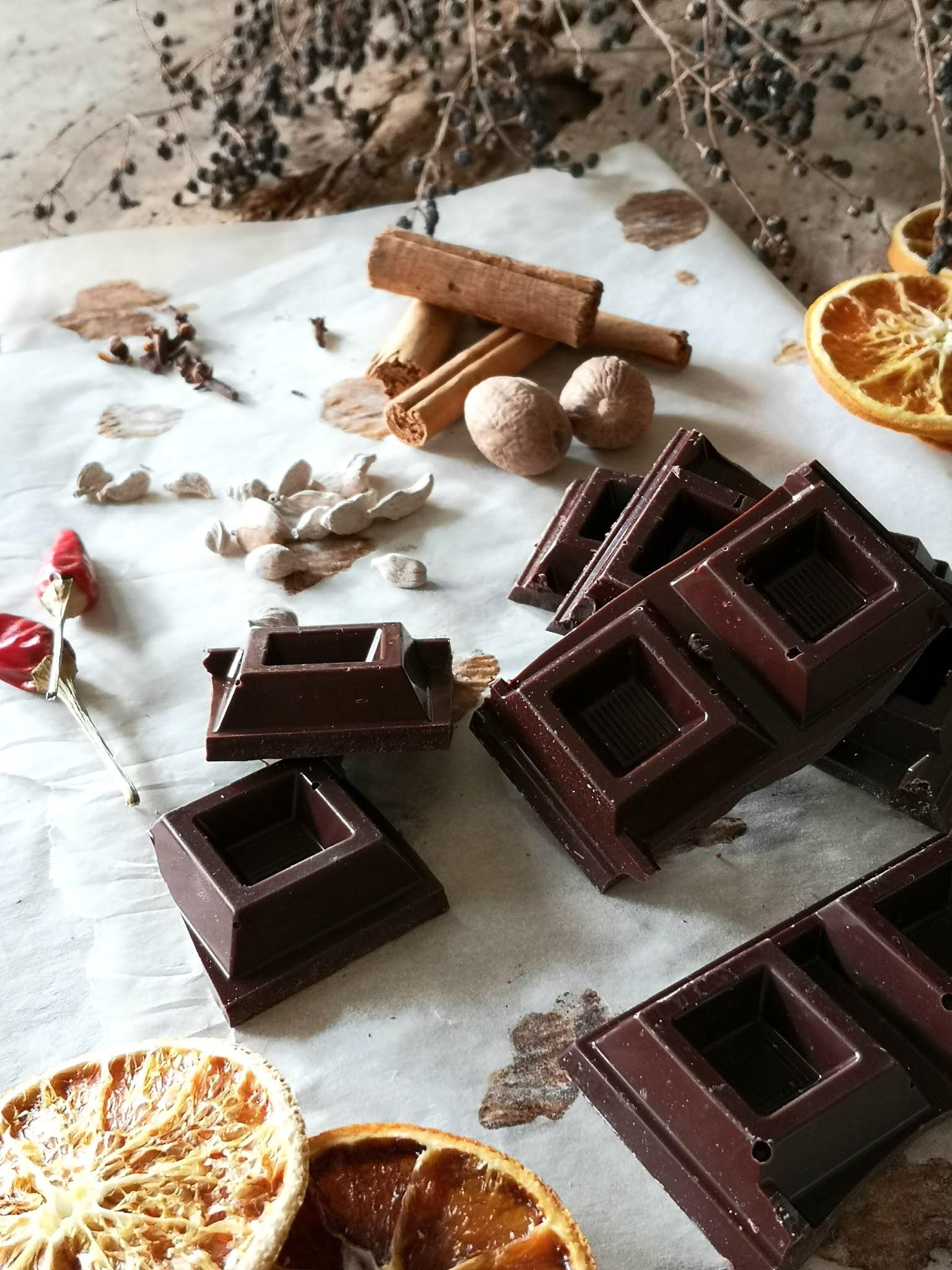 glassa al cioccolato speziato caldo