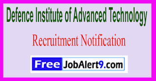 DIAT Defence Institute of Advanced Technology Recruitment Notification 2017  Last Date 20-06-2017