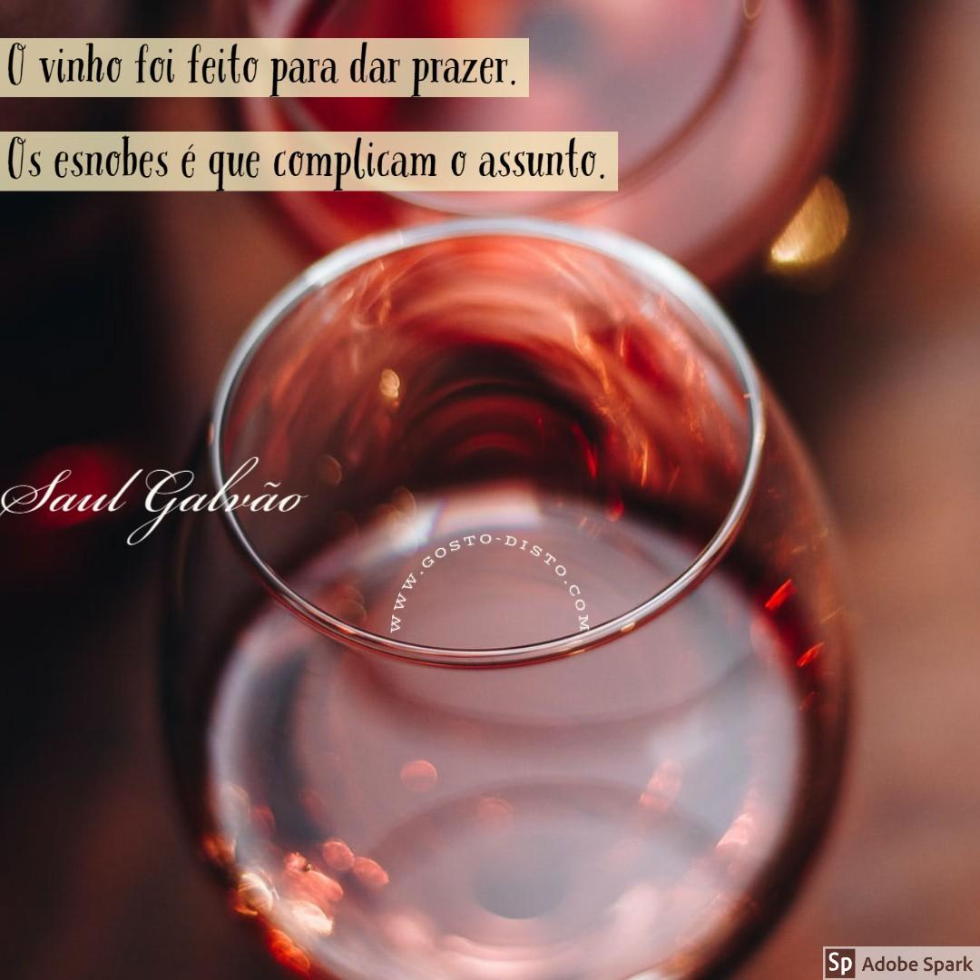 Pensamento sobre vinho