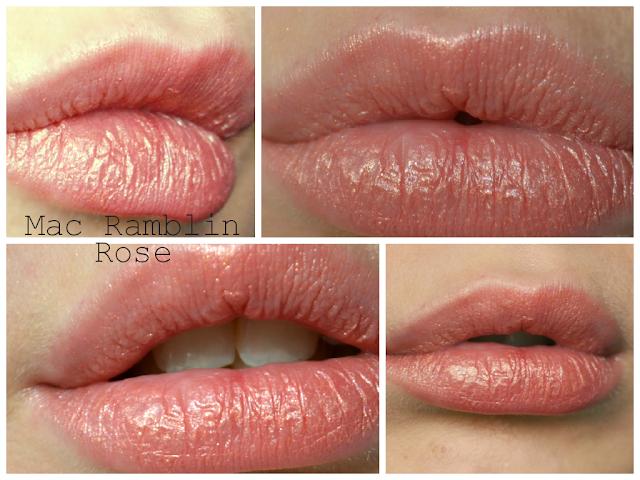 Ramblin rose - MAC - Frost Lipstick - review - swatch