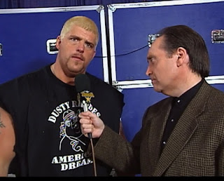 WCW Starrcade 1999 - Dustin Rhodes promised to be Jeff Jarrett's fat daddy