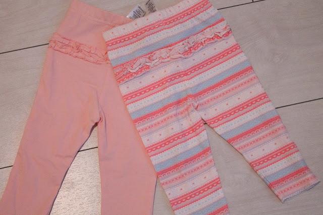 Asda 2 pack baby leggings frilly bum fairisle print