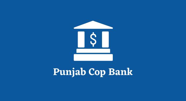 Punjab Cop Bank Clerk managers Online Form