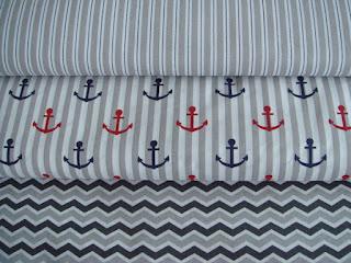 Námornické bavlnené látky béžové