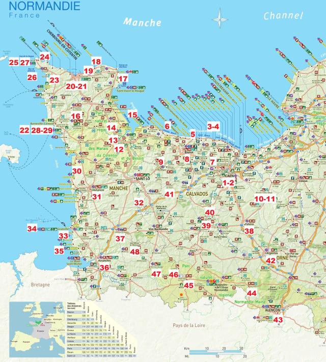 Mapa de Normandia amb el núvol de punts