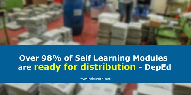 Over 98% of Self Learning Modules are ready for distribution - DepEd