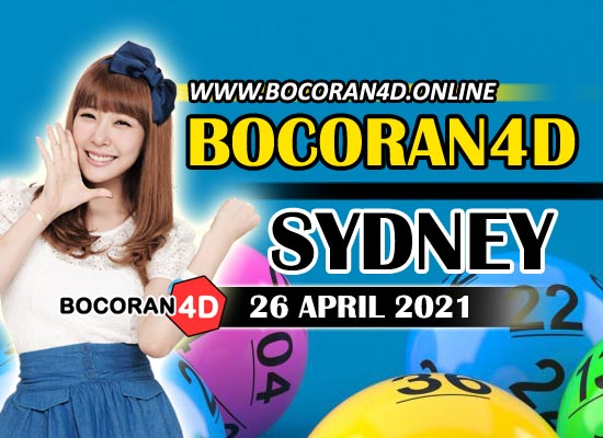 Bocoran Togel 4D Sydney 26 April 2021