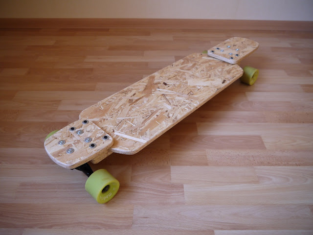Forked drop-down longboard - OSB prototype