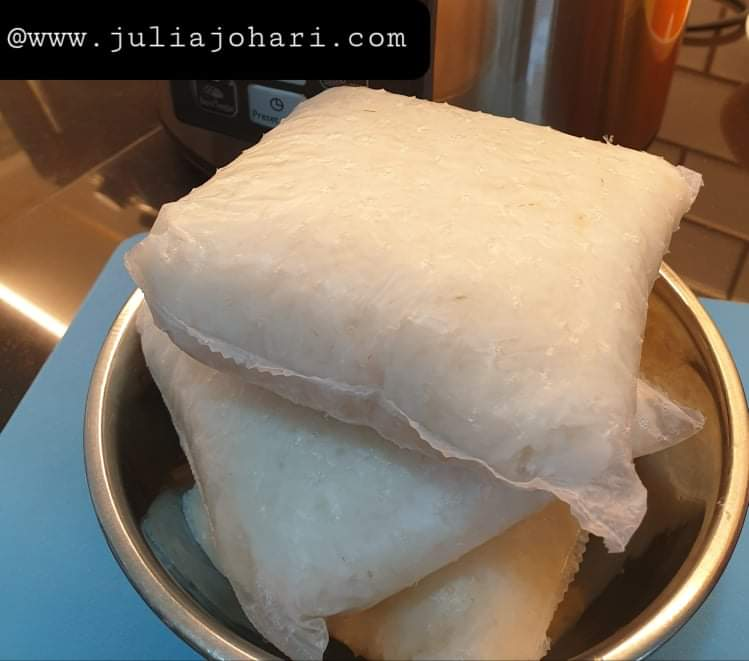 Resipi Nasi Impit masak guna pressure cooker