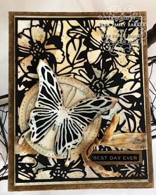 Sara Emily Barker https://sarascloset1.blogspot.com #timholtz #sizzix #flowery #scribblybutterflies 2