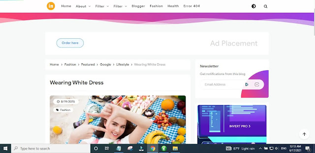New Invert Pro v3 Blogger Template Main Features