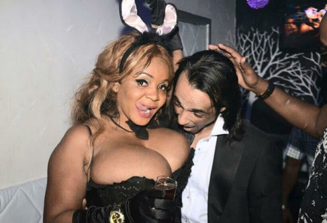 Man Squeezing Woman Breast