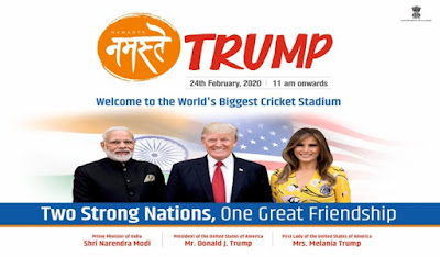 PM Narendra Modi, US President Donald Trump to jointly address Namaste Trump event at Motera stadium Ahmedabad