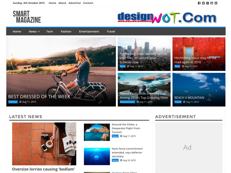 Smart Magazine Modern Responsive WordPress Theme