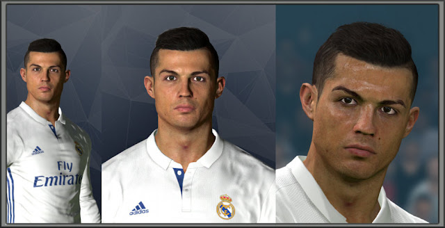 C Ronaldo New Face Hair PES - New face hair cristiano ronaldo pes 2013