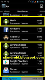 aplikasi di balik layer android