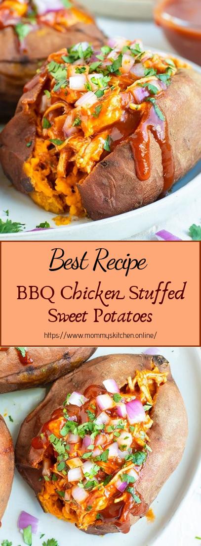 BBQ Chicken Stuffed Sweet Potatoes #dinnerrecipe #food #amazingrecipe