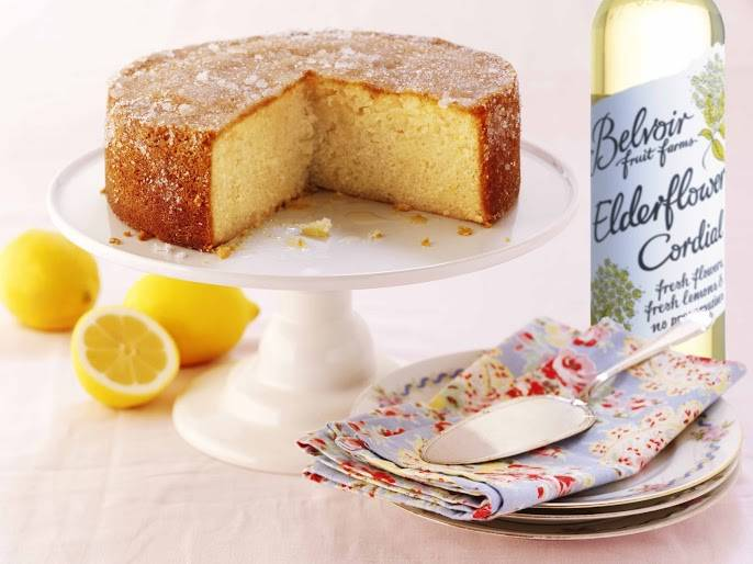 Elderflower And Lemon Drizzle Cake: Afternoon Tea