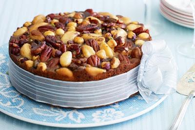 Celebration fruit and nut cake desserts recipes