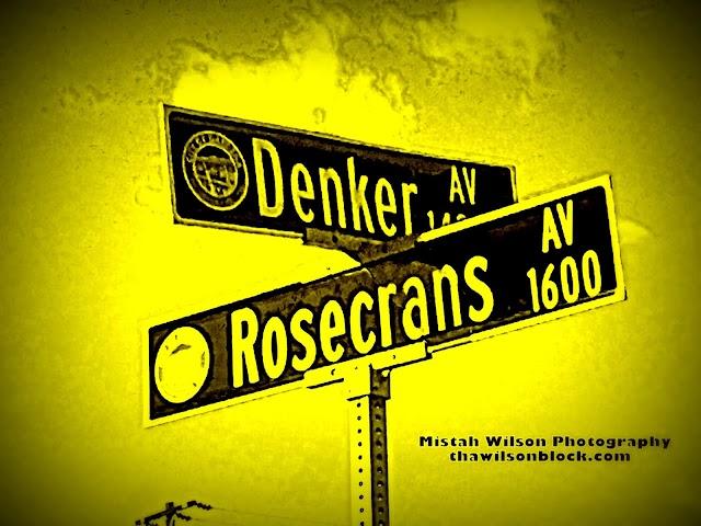 Denker Avenue & Rosecrans Avenue, Gardena, California by Mistah Wilson