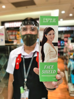 Acetate face shields with eye frame are available for P50 in SM Stationery