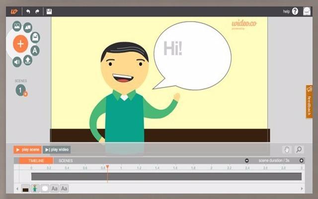 Pas comme les éditeurs vidéo traditionnels, mais permet également de créer des fichiers vidéo d'animation à partir de zéro et facilement, il suffit de télécharger vos photos, enregistrements sonores et formaté à l'aide des outils fournis par ce site qui incluent des transitions d'animation et des effets de texte.
