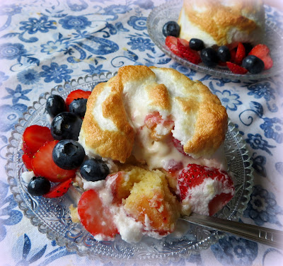 Red, White & Blue Baked Alaskas