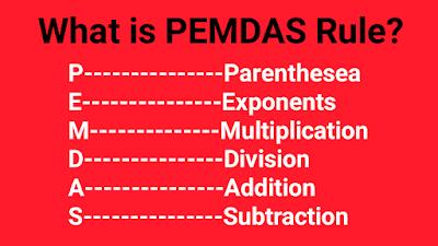 What is PEMDAS rule