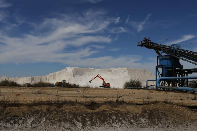 Producción de sal en las marismas de Odiel