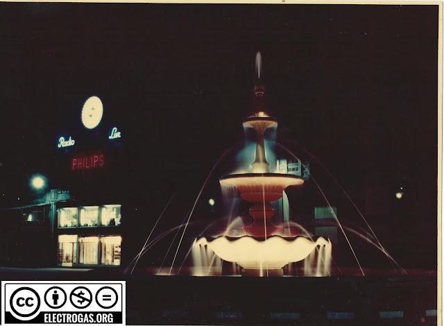 Fsuente luminosa plaza Pedro Menéndez en Avilés