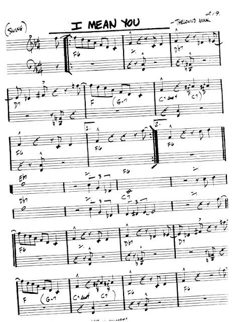 Partitura Armónica Thelonius Monk