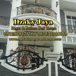 Model pagar balkon klasik Jakarta Timur.