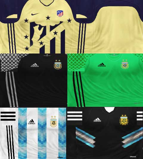1cf4bbcaf ultigamerz  PES 6 Argentina 2018 World Cup Kits + Atletico Madrid ...