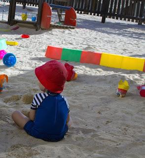 Spielplatz, Sommer, Urlaub