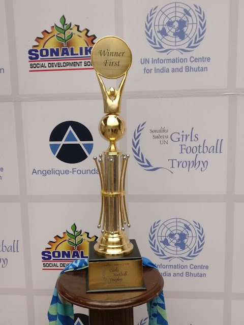 Sonalika-Sudeva-UN Girls Football League Trophy