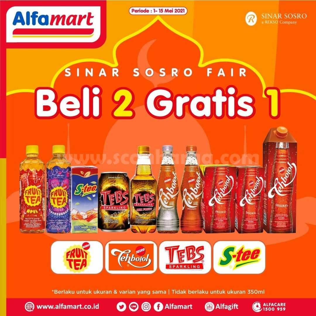Promo ALFAMART SINAR SOSRO FAIR - Beli 2 Gratis 1