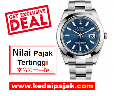 Pajak Jam Rolex Datejust Dengan RM20,000 - kedaipajak.com