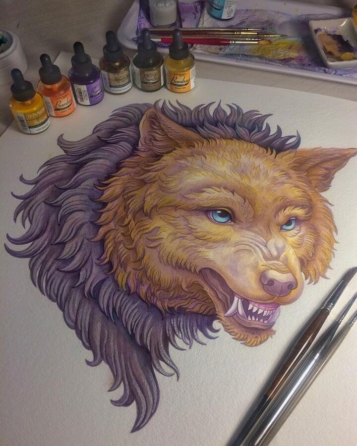 06-Snarling-wolf-Sanjana B-www-designstack-co