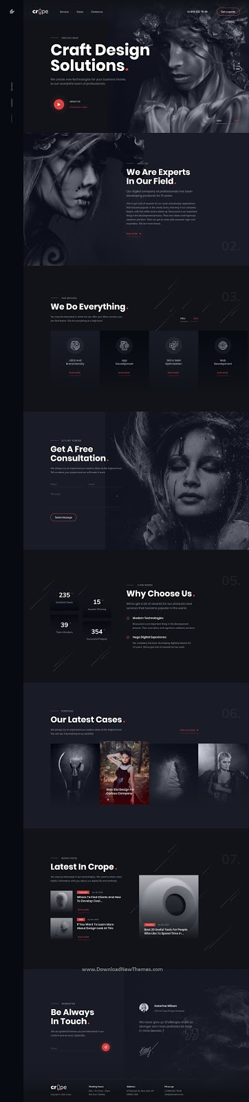 Web Agency Figma UI Template