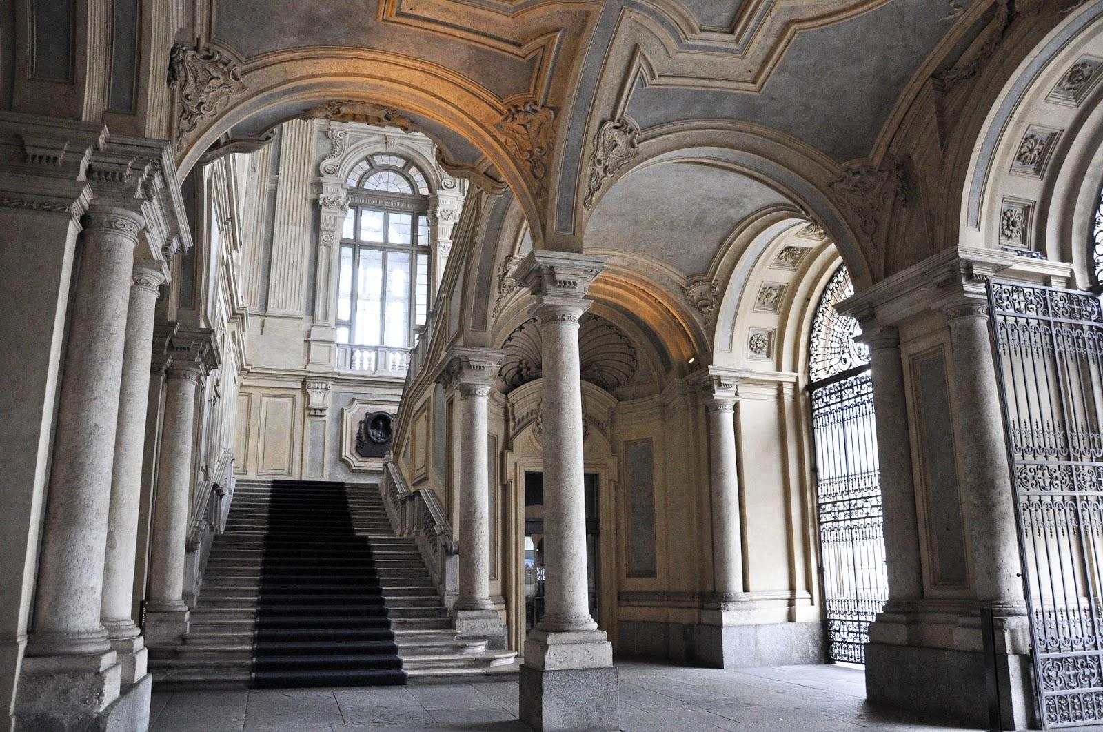 The entrance hall, Palazzo Madama, Turin, Italy