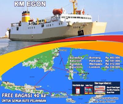 Jadwal Kapal Pelni Km Egon Bulan Oktober 2019 Dari Lembar