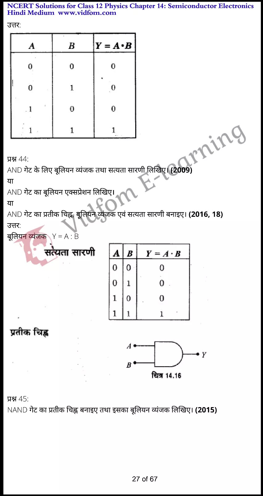 class 12 physics chapter 14 light hindi medium 27