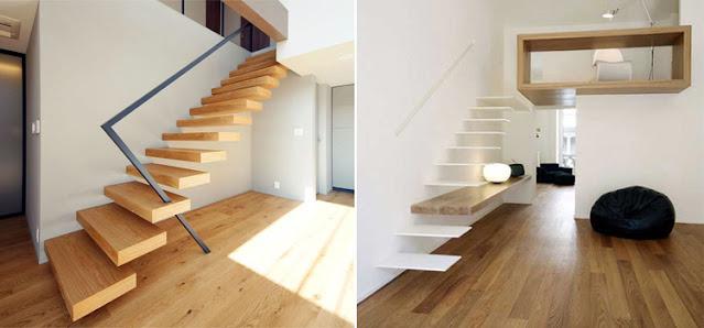 Desain tangga railing dan tanpa railing