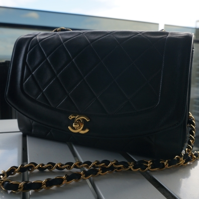 Chanel vintage quilted diana lambskin flap bag | awayfromtheblue