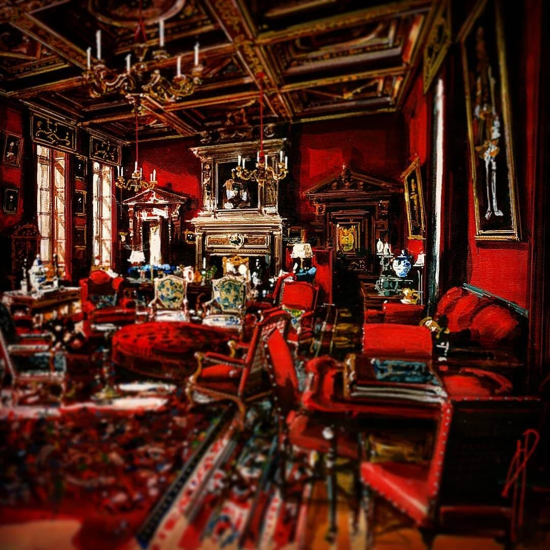 13-Red-Room-Andrea-Prandini-Interior-Design-Drawings-and-Paintings-www-designstack-co